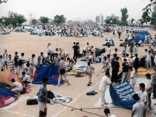 2002 앞뜰 야영